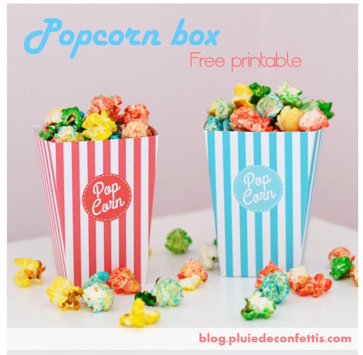 Popcorn Box Free Printable On Blogpluiedeconfettiscom