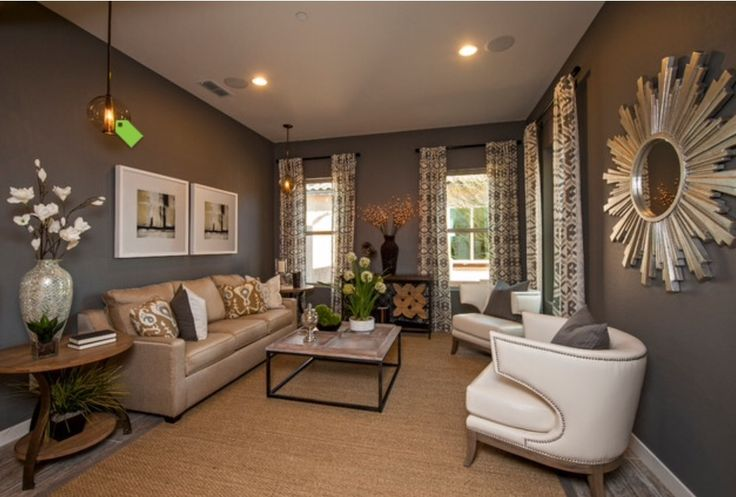 Grey Walls With Curtains That Match Living Room Ideas
