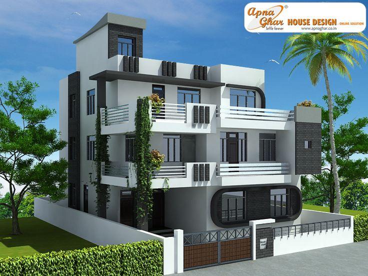 7 Bedroom Modern Triplex 3 Floor House Design Area 240 Sq Mts