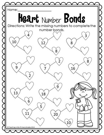 17 Best ideas about Number Bonds Worksheets on Pinterest