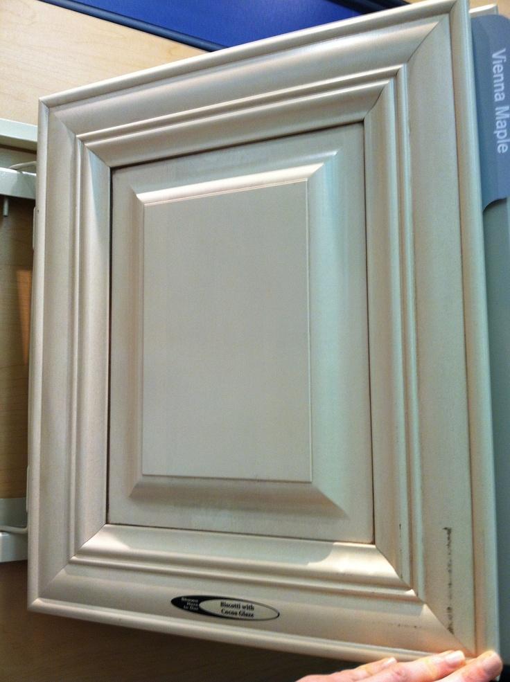 Kraftmaid Biscotti with cocoa glaze kitchen cabinet at
