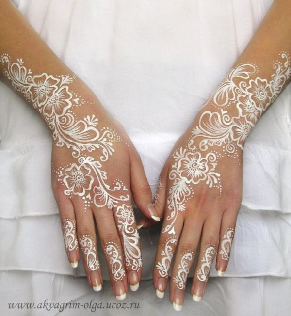 20 White Henna Tattoo Dry Ideas And Designs