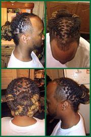 loc style men flakes dreads