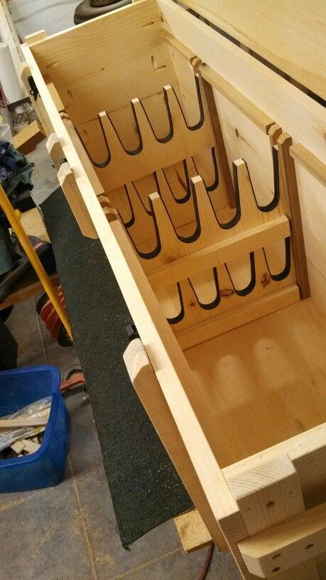 Large 8gun crate for a vintage levergun collection Custom order from wwwbunkerboxescom