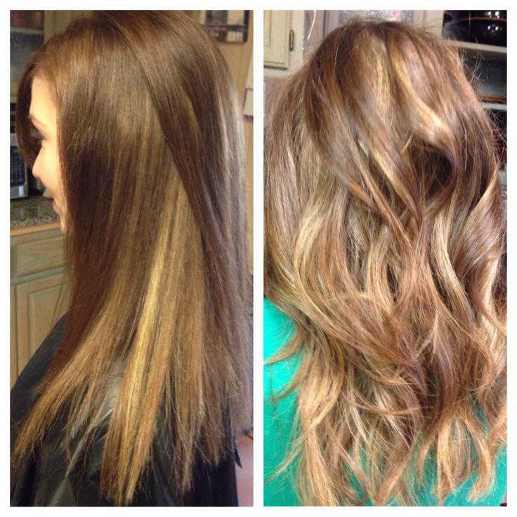 Peekaboo Highlights On Light Brown Hair Clients