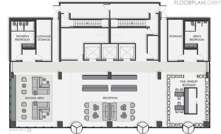 Boutique Hotel Lobby Floor Plan - Google Search