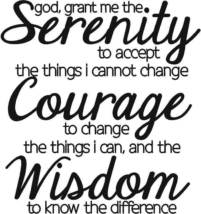 1000+ images about Recovery: Serenity Prayer on Pinterest