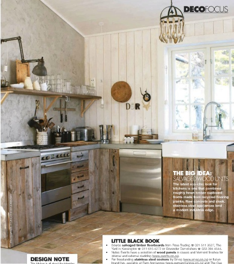 salvaged wood cabinets via Elle Decoration SA  Give Me