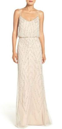 Neutral beaded maxi dress for bridesmaids | Bridesmaid ...