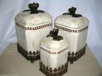 tuscan kitchen canister sets - 28 images - set of 3 casa ...