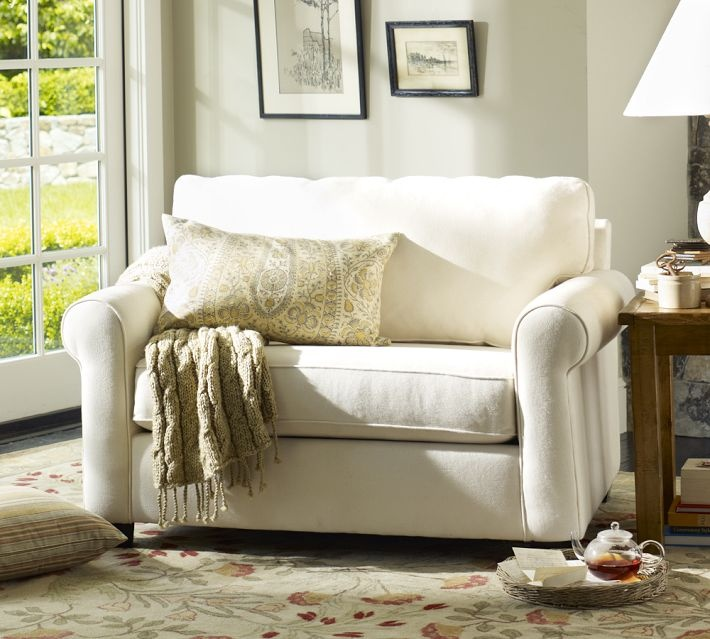 sleeper sofa pottery barn danish style melbourne chair turns into twin bed | bedroom decor pinterest ...