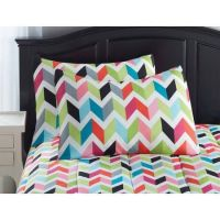 your zone bright chevron Bed in a Bag bedding set | A bag ...