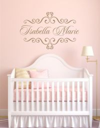 Personalized Baby Nursery Name Vinyl Wall Decal Elegant ...