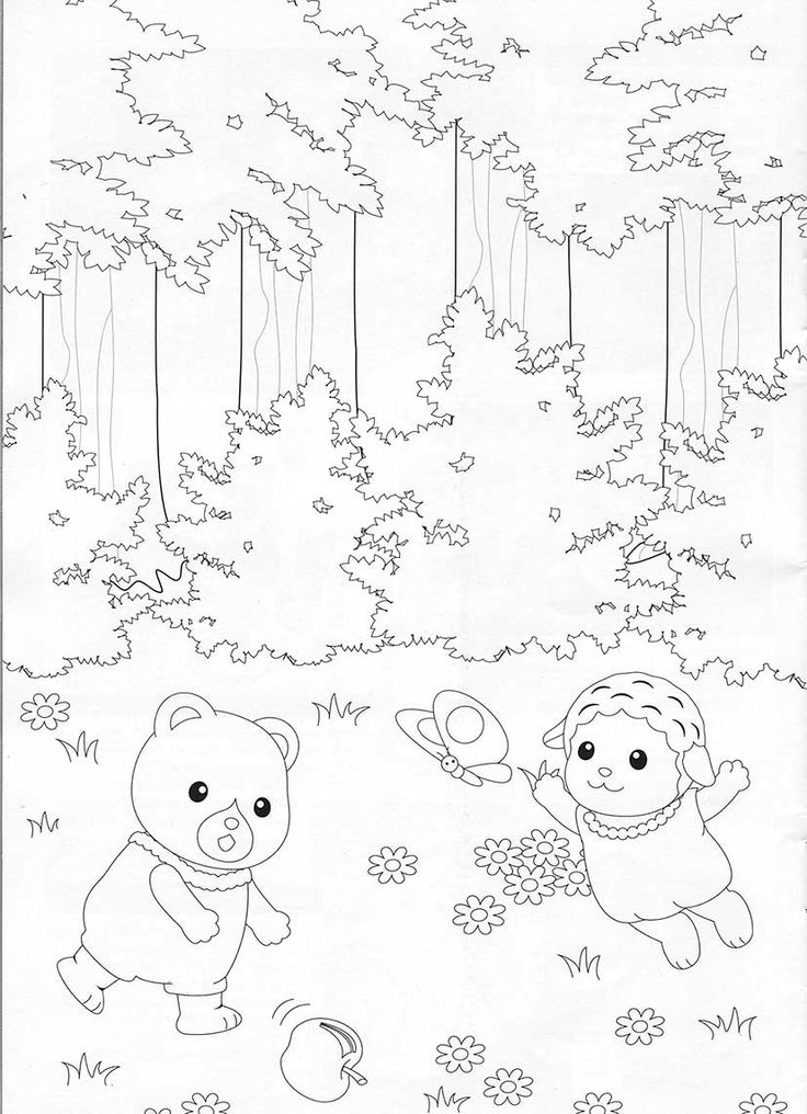 Familiescolouringdrawings Billedresultat For Sylvanian Families Coloring Pages Pinterest Farben Und