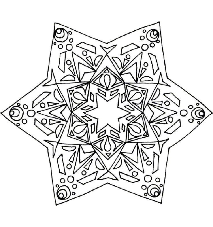 81 best images about Coloring: Christmas Mandalas