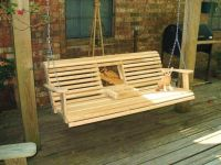 deck swing ideas | Free Porch Swing Plans Cup Holder ...