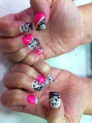 animal print nail design cherri