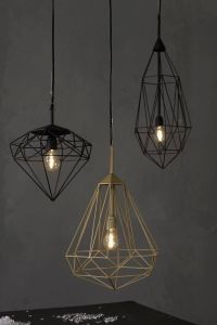Geometric wire pendant lights | Light & Lamp | Pinterest ...