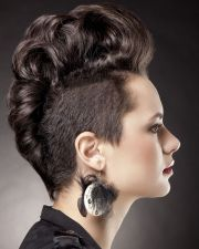 curly fashion chic mohawk rebel