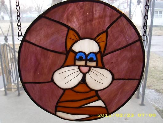 1000 Images About Stained Glass Cats On Pinterest