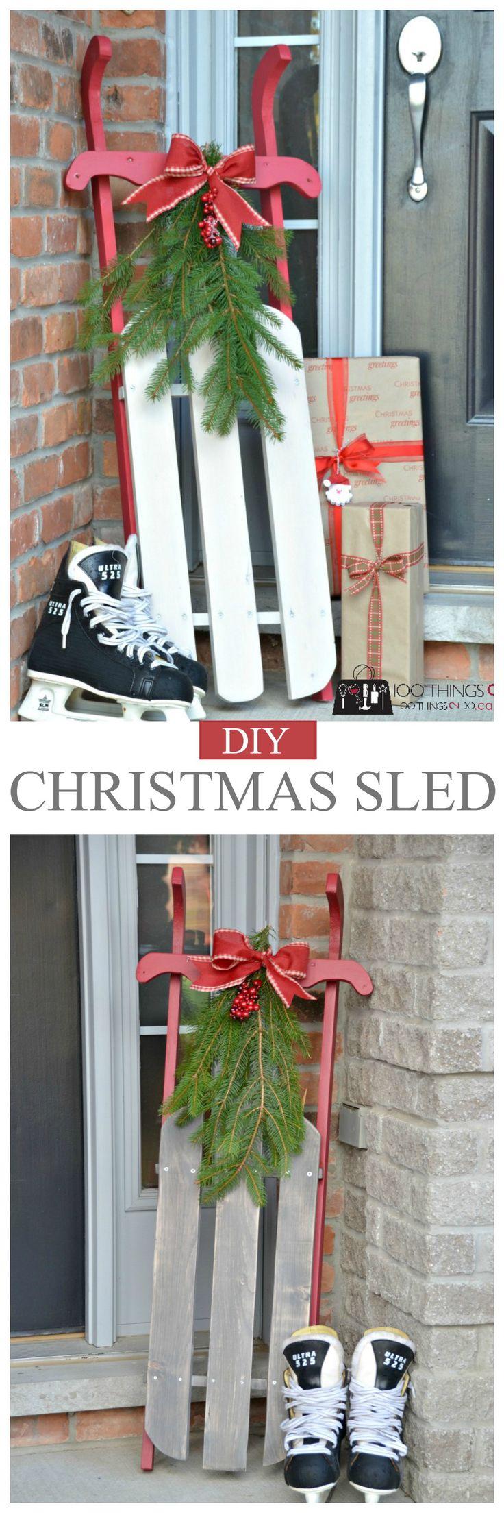 Best 25+ Christmas sled ideas on Pinterest