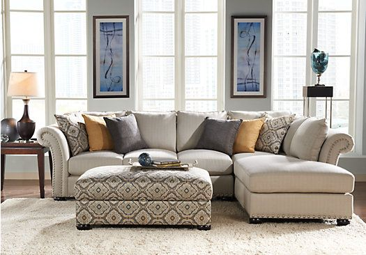 Shop for a Sofia Vergara Santa Barbara 3 Pc Sectional Living Room at Rooms To Go Find Living