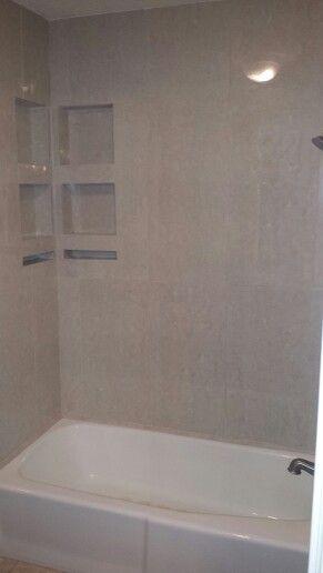 16 x 32 Porcelain Tile Tub surround  COMPETITIVE FLOORING