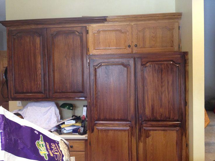 General Finishes Antique walnut and Java gel stains  My Kitchen Cabinet Redo  Pinterest