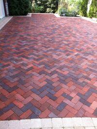 Brick Herringbone pattern for patio/driveway.