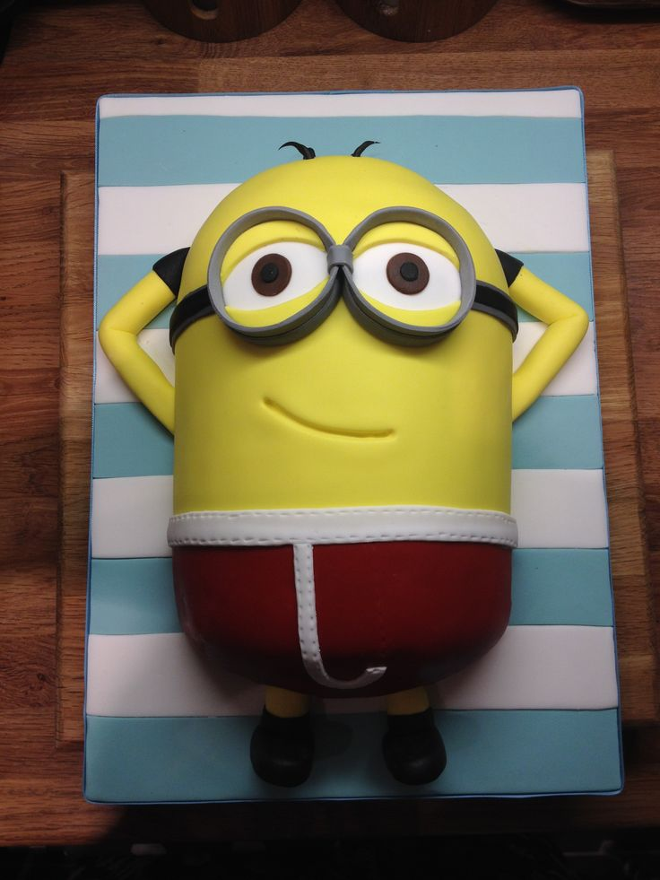 Minion Relaxing On A Man City Towel My Cake Art Pinterest Cities As And Towels