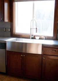 New Stainless Steel Apron Front Sink + how we installed it ...