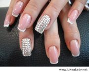 nice light pink nails. pretty french
