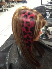 hot pink and black cheetah print