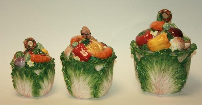 Fitz  Floyd Classics Vegetable Canisters Set  Fitz