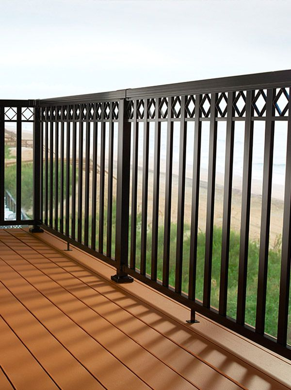 DIY Aluminum Railing System  Wide Pickets with Decorative Spacers and Black Rails  DIY