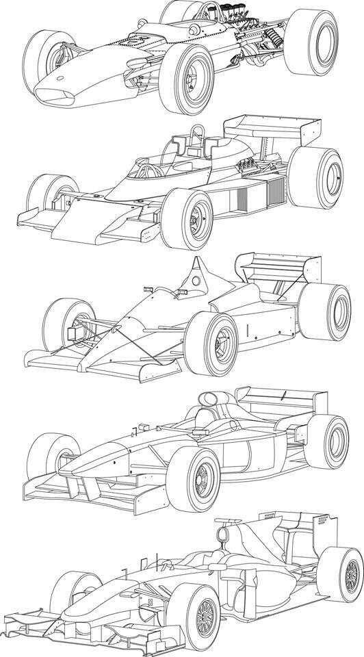 434 best images about Racing car line drawings on