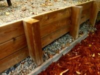 Best 20+ Wood retaining wall ideas on Pinterest