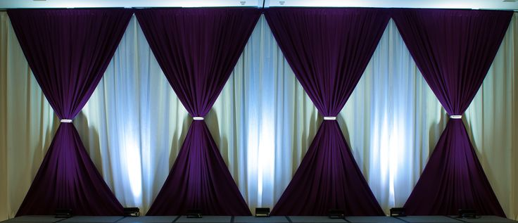 simple drape for stage backdrop good use of up lights to