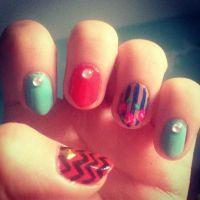 Natural stiletto nails   My nail designs~Nailed It! Nail ...