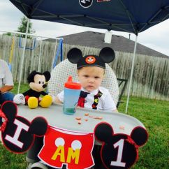 Mickey Mouse High Chair Decorations Wooden Accent Best 25+ Ideas On Pinterest