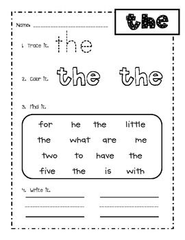 1000+ ideas about Kindergarten Sight Words List on