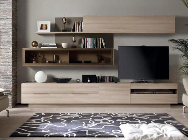 Rimobel Duo Contemporary TV Unit and Wall Cabinet in