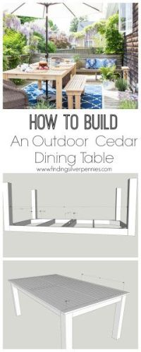 25+ best ideas about Outdoor dining tables on Pinterest ...