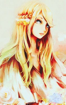 Anime Girl Wallpaper Hair Braided Blond Eyes Red Http I1226 Photobucket Com Albums Ee407