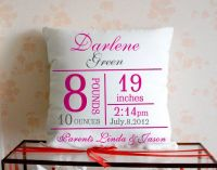 Baby Pillow,Personalized Baby Pillow,Birth Announcement