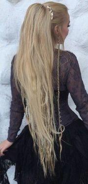 beautiful ponytail with small viking