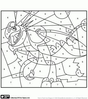 Colorear Tormenta, el dragón de Astrid para colorear por