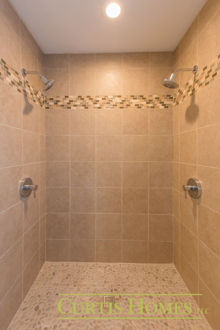 Double Shower Head hoodriver builder curtishomes  Bathroom Designs  Pinterest  Double