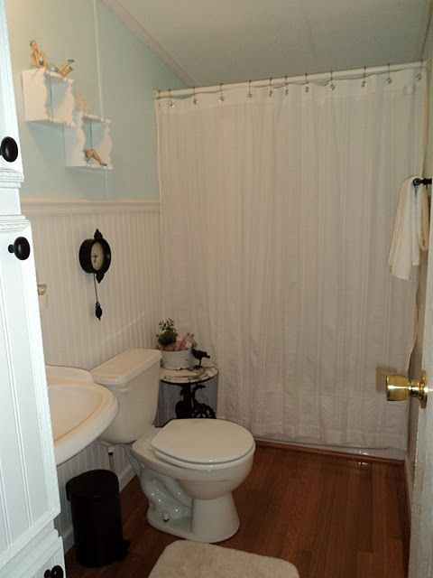 A Spectacular Double Wide Manufactured Home Makeover  The guest Bath and Mobiles