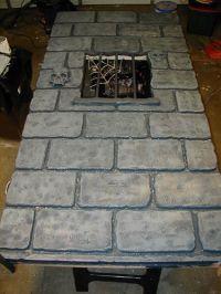 minus the skulls etc -making castle walls from foam ...